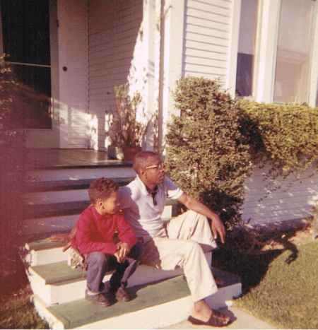 Walter Mosley and his father, Leroy.